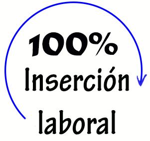 100% de inserción laboral